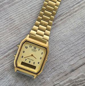 Casio Gold Tone Stainless Steel Digital Watch
